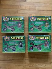 MIGHTY MORPHIN POWER RANGERS THUNDER BIKE WITH RED YELLOW PINK BLACK RANGER