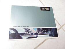Smart City Coupé et Cabrio 2001 catalogue brochure prospectus commercial sales
