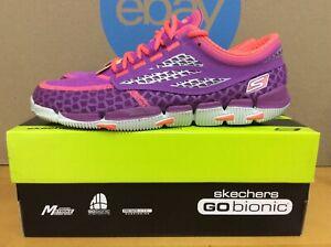 New Skechers Go Bionic Prana Womens Running Shoes Size 9.5 Purple Hot Pink E8