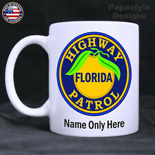 Florida Highway Patrol Patch Personalized 11oz. Coffee Mug. Made in the USA.