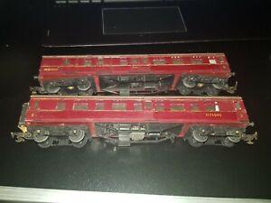OO gauge Triang R28/220 Crimson Coach M24000 M34000 rollingstock unboxed x 2