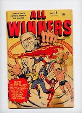 All Winners #19, 1946 Timely key; scarce, 1st app/orig All Winners Squad
