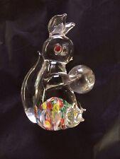 VINTAGE MID CENTURY Japan ARDALT GLASS PAPERWEIGHT Squirrel MILLEFIORI