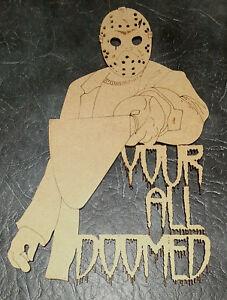 Halloween Quote MDF wall art window decoration craft shape halloween party