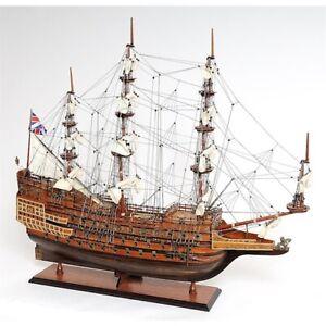 Holzschiff Modell Sovereign of the Seas MassivholzTeak Mahagoni Handarbeit