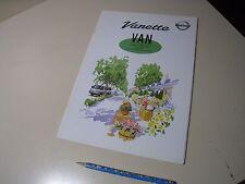 Nissan Vanette VAN Japanese Brochure 2001/01 22 F8 R2