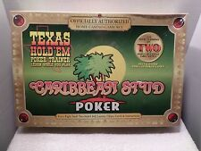 Caribbean Stud Poker & Texas Holdem Home Casino Game Set From TDC Games SEALED