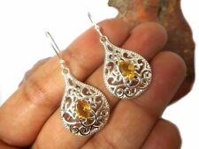 CITRINE  Sterling  Silver  925  Gemstone  Earrings  -  Gift Boxed