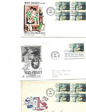 Total Lot of 11 Us Fdc: (6) Scott #1322, Mary Cassatt, (5) #1375, Alabama