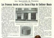 """TOURS (37) CONFISERIE """" MASSIE """" SUCRES D' ORGE /  ADP 1923"""