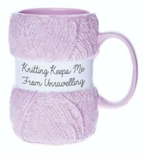 Boxer Gifts Keeps Me From Unraveling Novelty Knitting Mug | Realistic Yarn