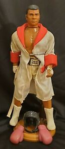 "Muhammad Ali 1975 H.M. Entertainment 9.5"" Action Figure w/Stand Headgear Gloves"