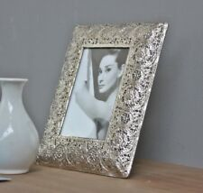 Picture Frame Metal Silver Oriental Antique Photo Standing 23x18