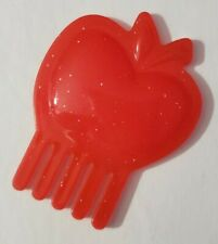 """MY LITTLE PONY MLP DOLL ACCESSORIES RED APPLE COMB ONLY 2.25"""" LONG APPLEJACK"""
