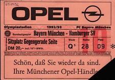 Ticket BL 92/93 FC Bayern München - Hamburger SV