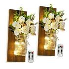Rustic Wall Mounted Candlesmayson Can Wall Candlestick, Remote Lager Burn Color