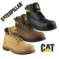 CAT Caterpillar HOLTON SB Safety Steel Toe Work Boots Black Brown Honey |6-15|