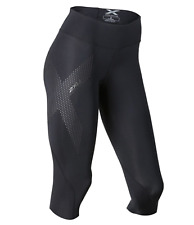 2Xu Women's Mid-rise Compression 3/4 Tights - Black/Dotted Reflective - Medium