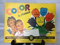 NOS Vintage 1950s Whitman Color by Number - Western & Southern Insurance Ohio