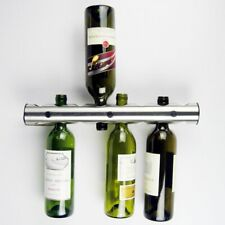 8 Holes Stainless Steel Wine Wisky Holder Bottle Stand Rack Bar Wall Mounted mB