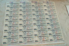Philippines 1998 500 Piso P185s Specimen 32 UNCUT sheet VERY RARE sign 14 UNC