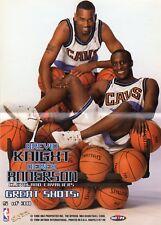 brevin knight derek anderson cavaliers 5 1997/98 hoops mini poster great shots