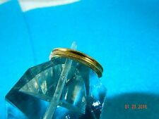 14K solid yellow Gold  Wedding Band Ring  size 6 Vintage Unique Concave Style