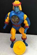 MOTU 1985 vintage Sy-Klone figure He-Man line; with original shield. Mattel Used