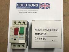 EUROPA MMS063S 0.4 - 0.63 AMP MANUAL MOTOR STARTER