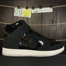 Nike SB Zoom Dunk High Pro Iridescent Black White Clear 854851 001 Size 12