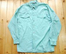 Vintage Versace Classic V2 Western Pastel Verde Botones Camisa L