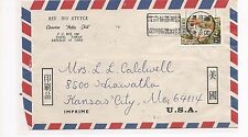 Taiwan China 1958 Butterfly 6 on A/M cover to USA (baf)