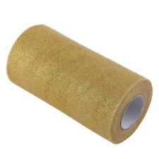 Glitter Tulle Roll Spool Fabric Party Supplies Wedding Decoration (Gold)