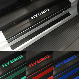 Door Sill Plate Protectors Black Matte Vinyl Accessory Fits Toyota Prius V 2021