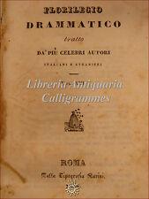 TEATRO: Florilegio Drammatico XIII 1831 Marchisio BORSA PERDUTA Duval NIPOTE