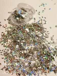 2ml Pot Silver Laser Moons Craft Embellishments Shaker Halloween sprinkles