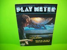 Play Meter Magazine Feb 1983 Burger Time Baby Pac-Man Q-Bert Arcade Games Pins