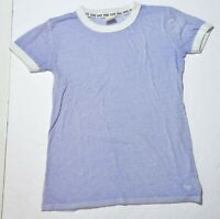 Woman's VICTORIA'S SECRET PINK Purple T-Shirt Short Sleeve Junior Size XS