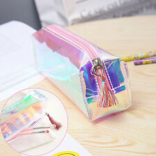 Women Fashion Colorful Laser Tassel Pencil Case Cosmetic Bag Makeup Pouch Beauty