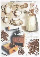 Reispapier-Motiv Strohseide-Decoupage-Serviettentechnik-Kaffee-19018