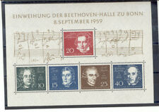 Germany - Souvenir Sheet of Stamps Year 1959 MNH** Beethoven Hall