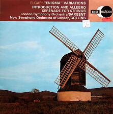 ECS 588 Elgar Enigma Variations Serenade For Strings Sargent Collins NM/EX Decca