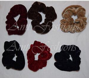 Large Velvet Hair SCRUNCHIE Elastic Stretchy Good Quality Big New Accessory