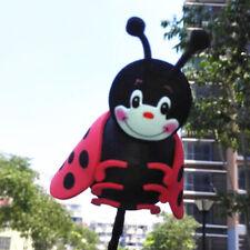 Glaring Black Ladybird Antenna Balls Car Aerial Ball Antenna Topper & Decor Ball