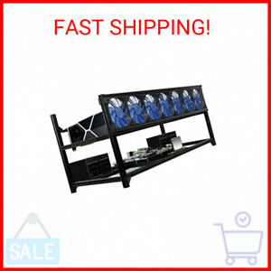 Kingwin 6 or 8 GPU Crypto Bitcoin Ethereum Mining Stackable Frame Rig