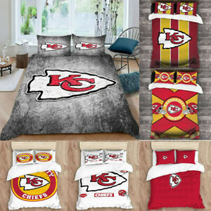 Kansas City Chiefs 3PCS Duvet Quilt Pillowcases Comforter Cover All Season US