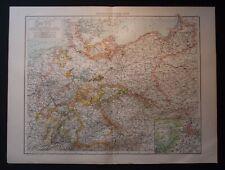 Antique Map: Germany (General Map) / Berlin & Environs, Universal Atlas, 1893