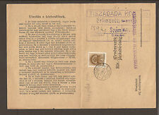 Hungary 1941 Delivery receipt. (2 x scans)