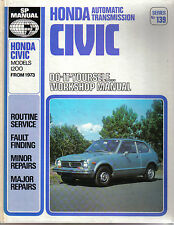 Honda Civic 1200 Automatic Transmisssion 1973 onward DIY SP Workshop Manual