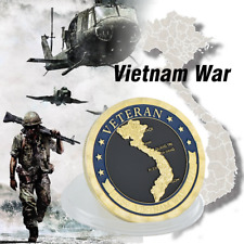 Vietnam War US Military Challenge Gold Plated Coin Gift For Solider Collector